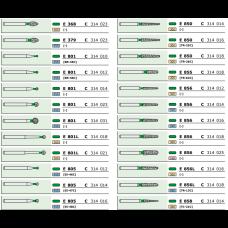 Боры ECO зеленые (C) 1шт., D+Z