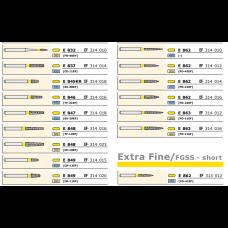 Боры ECO желтые (EF) 1шт., D+Z